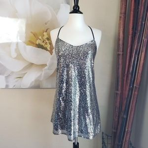 Foreign Exchange ~ Party Dress w/Silver Sequins